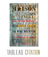 tableau decoratif citation