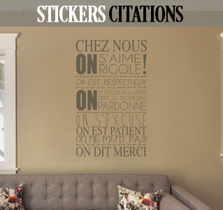 stickers muraux citations