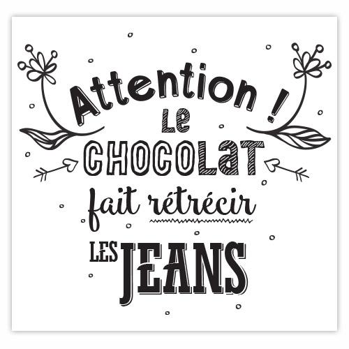 sticker citation cuisine - chocolat