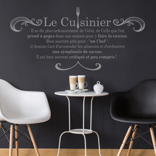 Popwall stickers muraux et tableaux deco for Stickers phrase cuisine