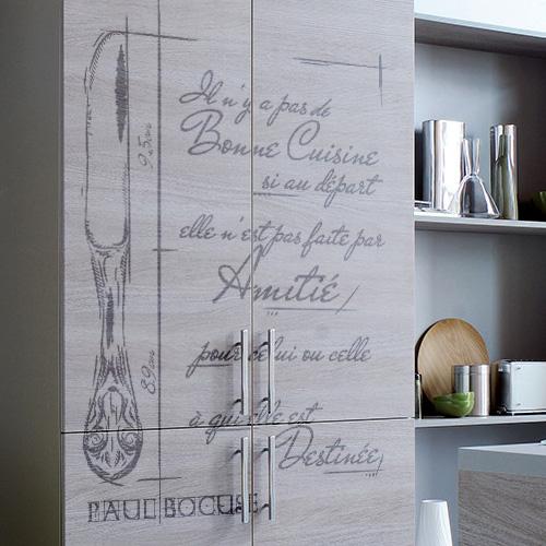 sticker deco cuisine paul bocuse. Black Bedroom Furniture Sets. Home Design Ideas