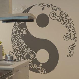 Popwall stickers muraux et tableaux deco for Deco yin yang