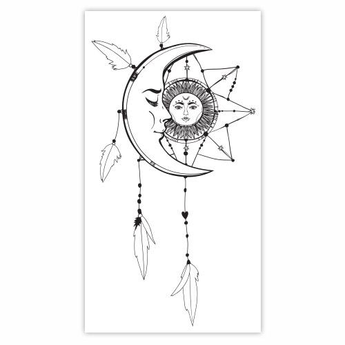 sticker mural attrape r ve lune et soleil. Black Bedroom Furniture Sets. Home Design Ideas