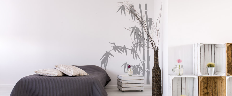Sticker Mural Branches De Bambou
