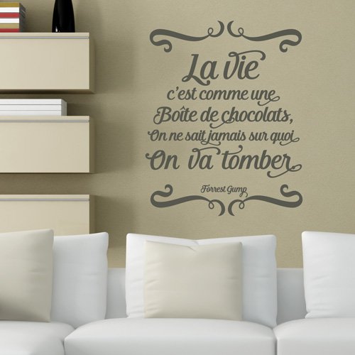 Stickers muraux citations francaises resine de protection pour peinture - Stickers muraux citations chambre ...