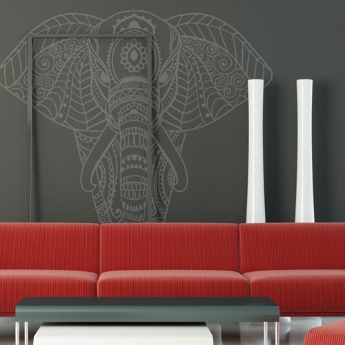 stickers deco l phant mandala. Black Bedroom Furniture Sets. Home Design Ideas