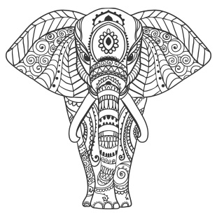 Stickers animaux - Mandalas animaux ...