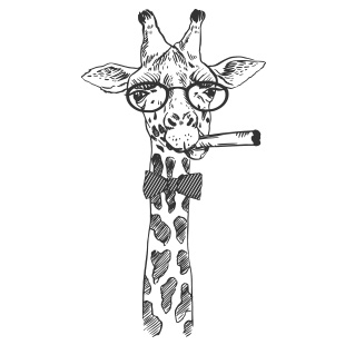 Girafe fun cigare