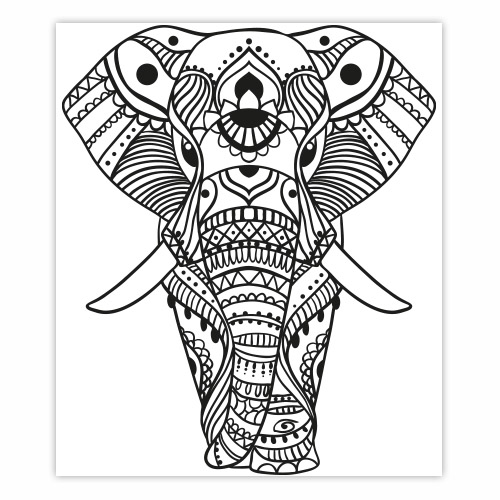 sticker l phant indien mandala. Black Bedroom Furniture Sets. Home Design Ideas
