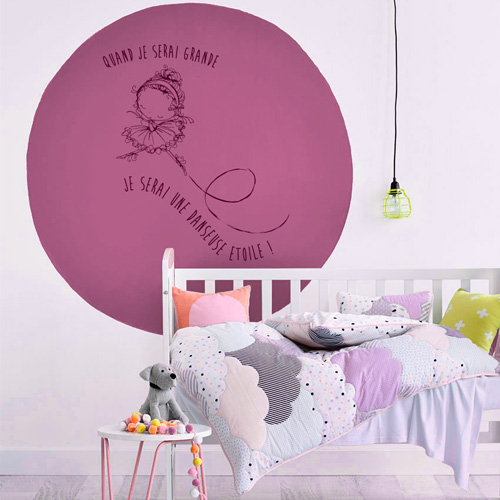 stickers muraux chambre fille je serai une danseuse toile. Black Bedroom Furniture Sets. Home Design Ideas