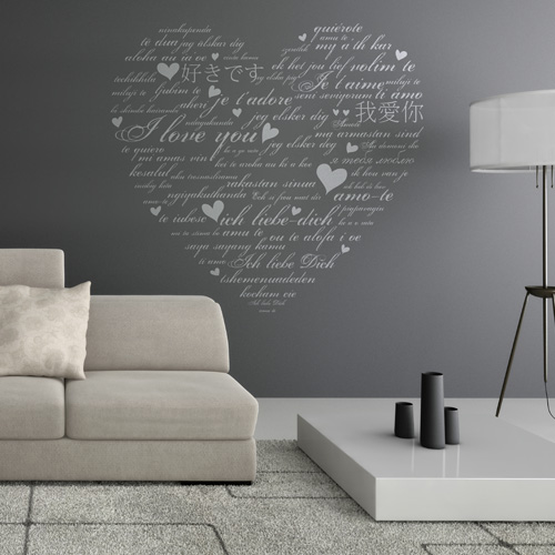 stickers muraux amour. Black Bedroom Furniture Sets. Home Design Ideas