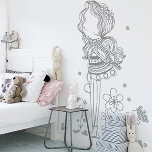 Stickers muraux chambre fille