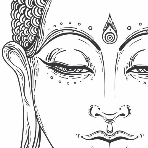 Sticker Tete De Bouddha