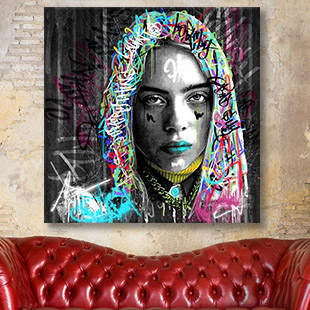 Tableau street art Billie Eilish