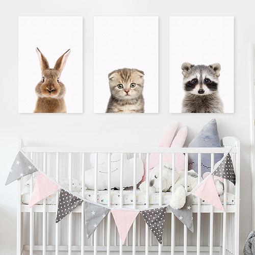 Tableau Deco Chambre D Enfant Bebe Portrait Chat Animal