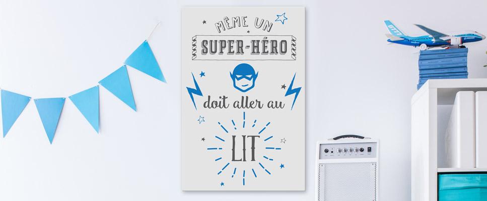 Tableau Deco Chambre Enfant Garcon Super Hero