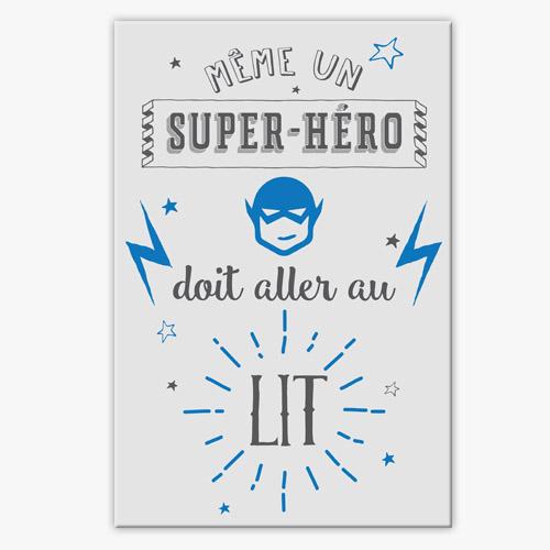 Tableau d co chambre enfant garcon super h ro - Deco chambre super heros ...