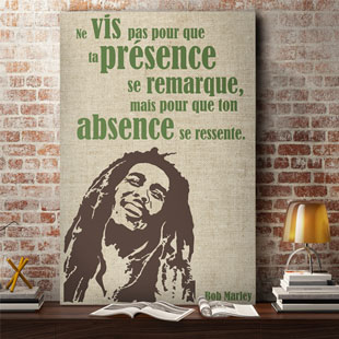 Tableau citation Bob Marley