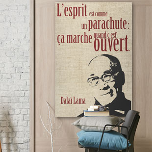 Tableau citation Dalai Lama