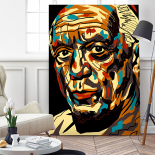 Albert Einstein Pop-Art black