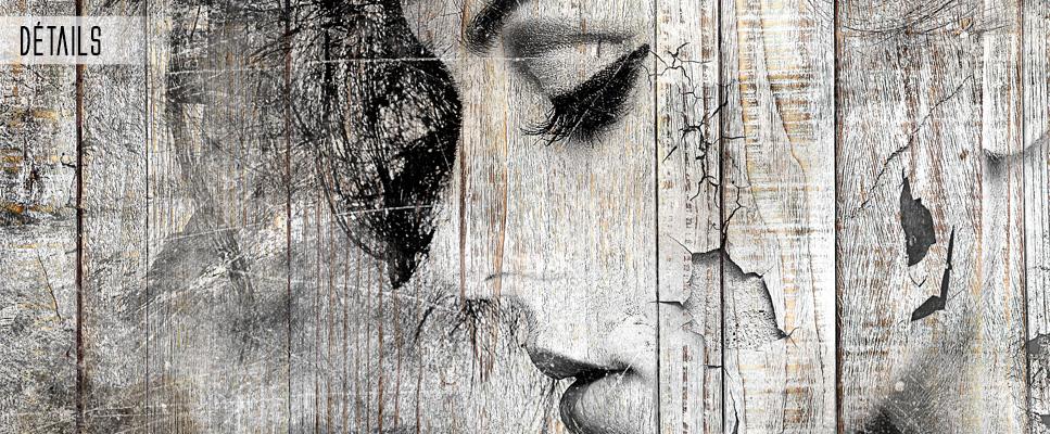 tableau deco bois de palette portrait