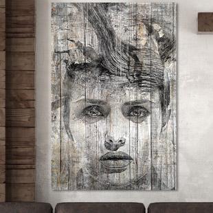 Tableau d co bois de palette noir et blanc for Peinture palette bois
