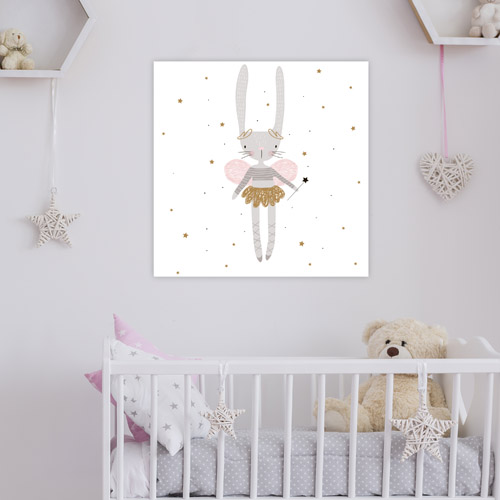 Tableau Déco Chambre Petite Fille Petite Fée Lapine Animal