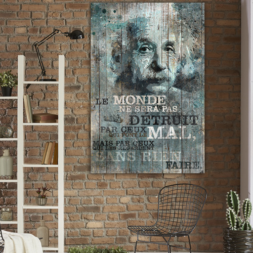 tableau d co citation albert einstein. Black Bedroom Furniture Sets. Home Design Ideas