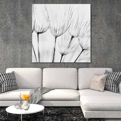 Tableau d co fleurs sauvages noir et blanc - Tableau noir deco ...