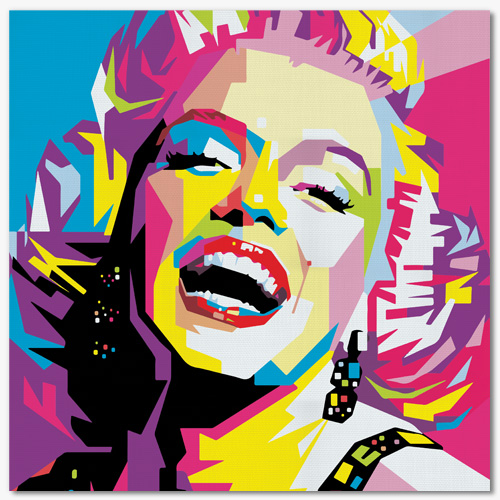 tableau pop art marylin monroe. Black Bedroom Furniture Sets. Home Design Ideas