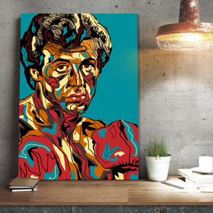 Rocky Balboa Pop-art Black