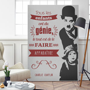 Tableau citation Charlie Chaplin