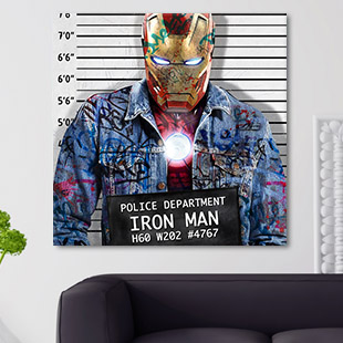 Tableau Iron Man pop art