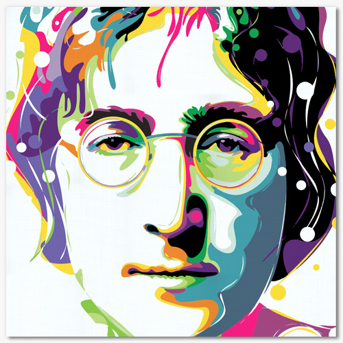 tableau john lennon pop art. Black Bedroom Furniture Sets. Home Design Ideas